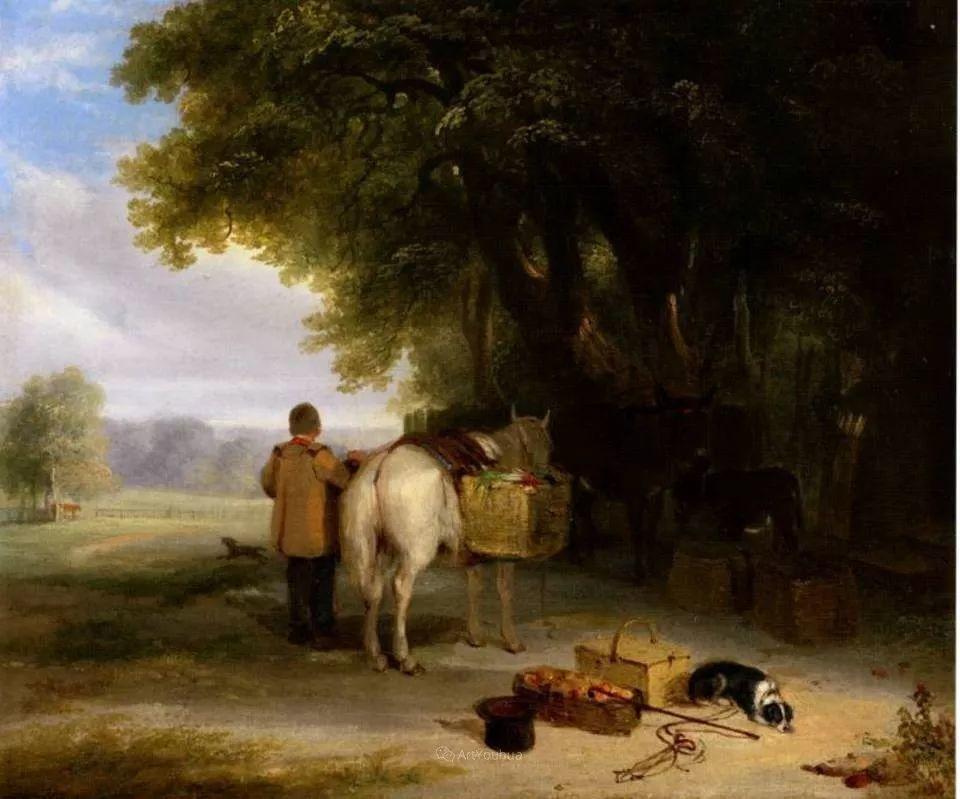 农村生活场景,爱尔兰画家威廉·穆雷迪插图14