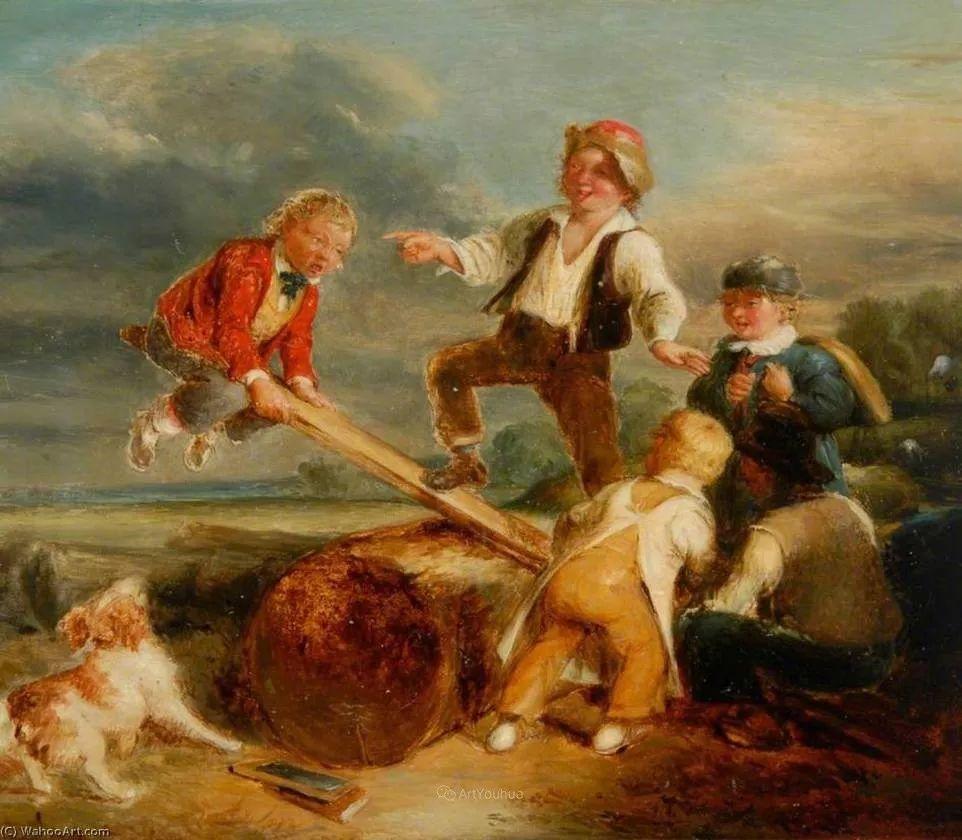 农村生活场景,爱尔兰画家威廉·穆雷迪插图19