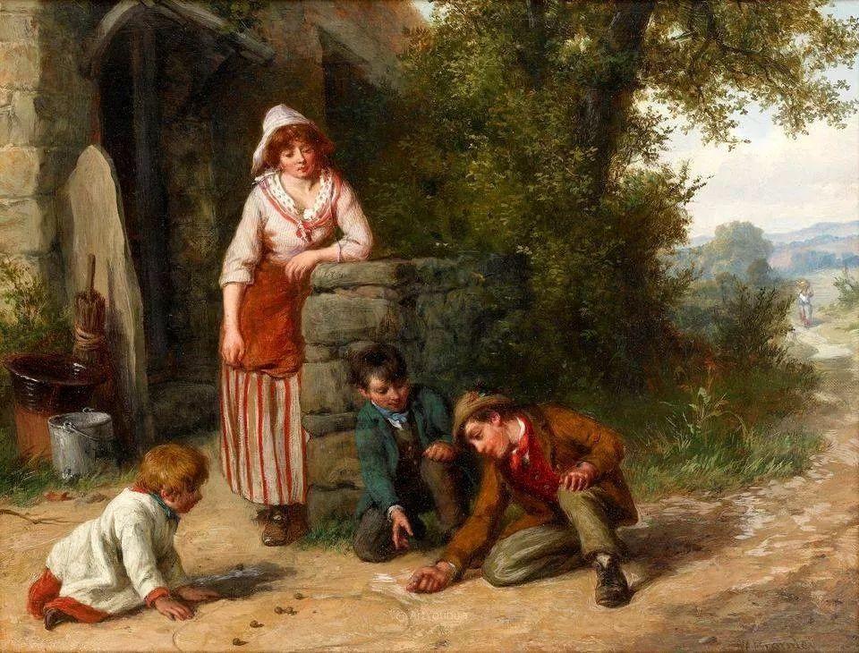 农村生活场景,爱尔兰画家威廉·穆雷迪插图24