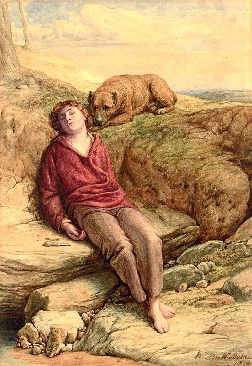 农村生活场景,爱尔兰画家威廉·穆雷迪插图26