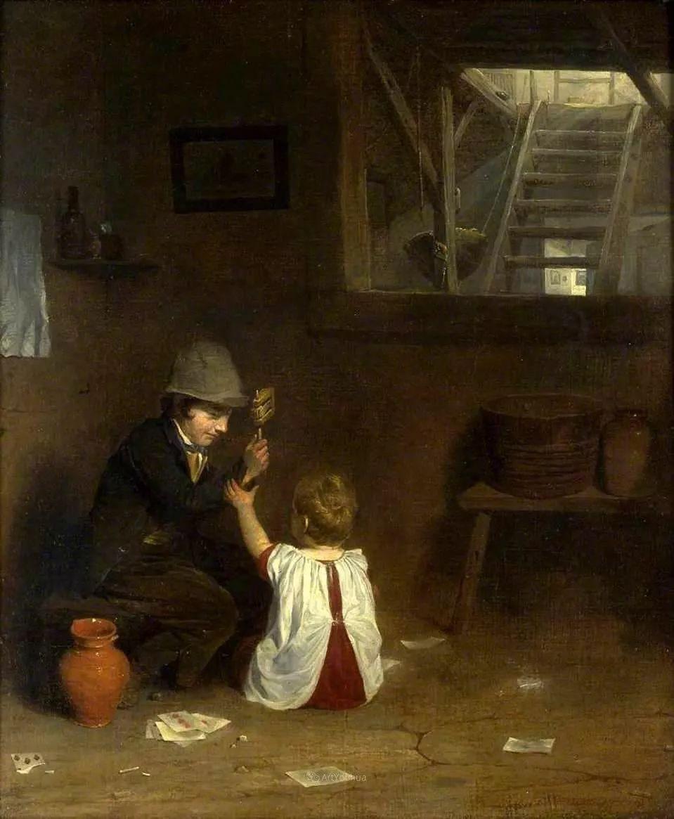 农村生活场景,爱尔兰画家威廉·穆雷迪插图29