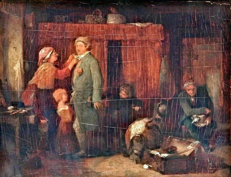 农村生活场景,爱尔兰画家威廉·穆雷迪插图37