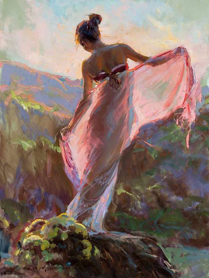 油画里,光影中的美女,一美千年插图3