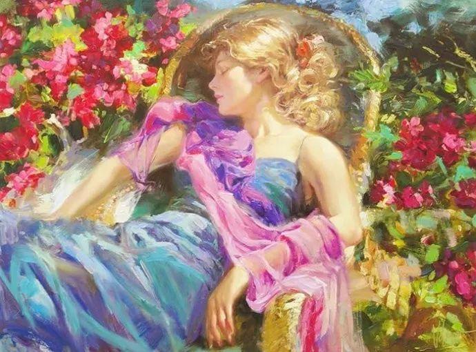 油画里,光影中的美女,一美千年插图5