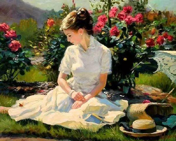 油画里,光影中的美女,一美千年插图7