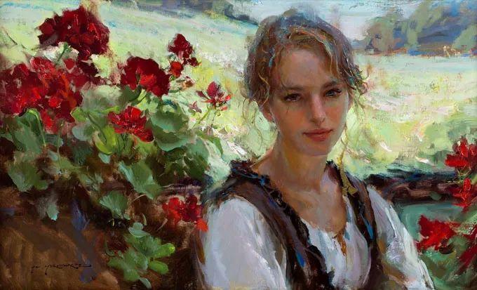 油画里,光影中的美女,一美千年插图9