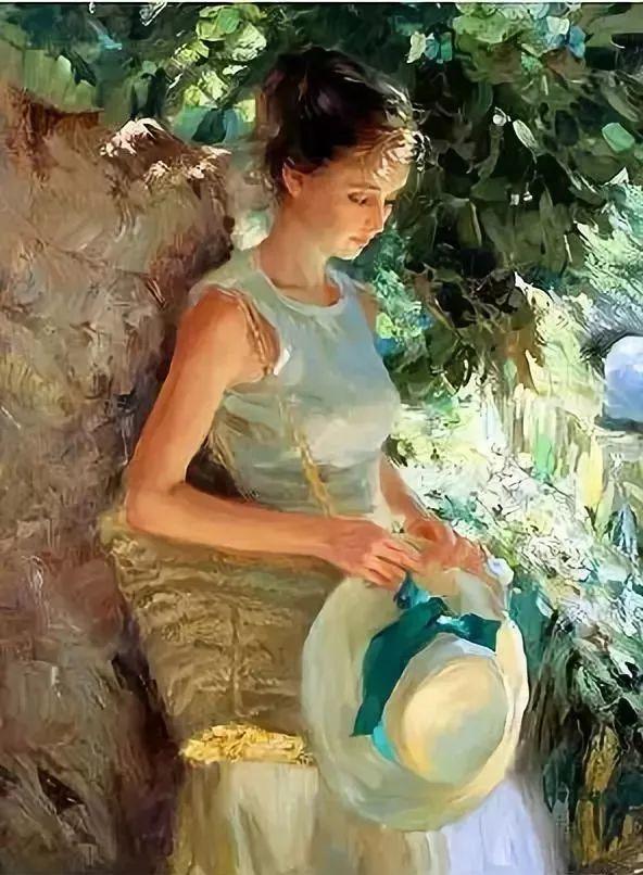 油画里,光影中的美女,一美千年插图13