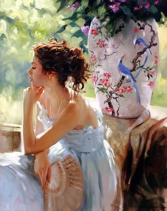 油画里,光影中的美女,一美千年插图15