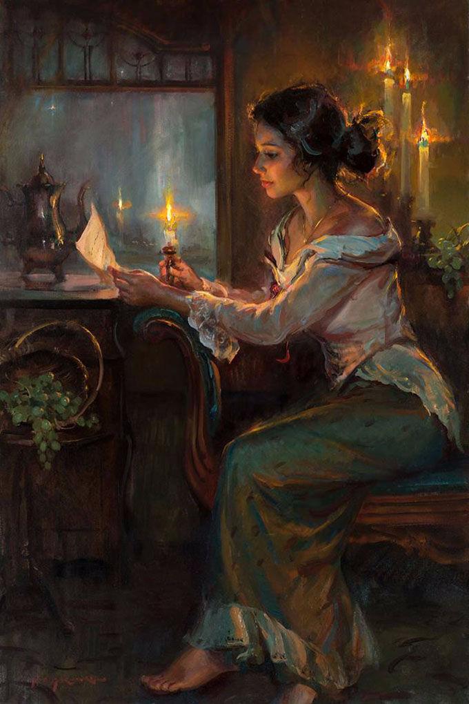 油画里,光影中的美女,一美千年插图19