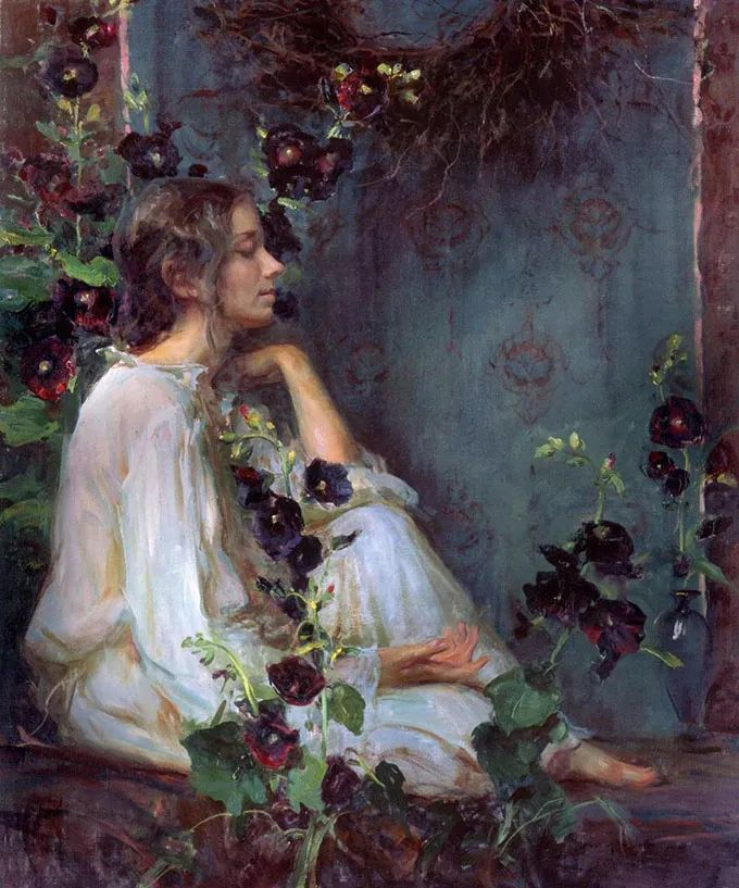 油画里,光影中的美女,一美千年插图21