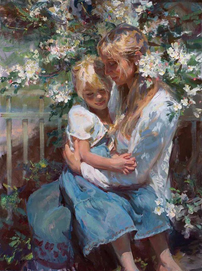 油画里,光影中的美女,一美千年插图23