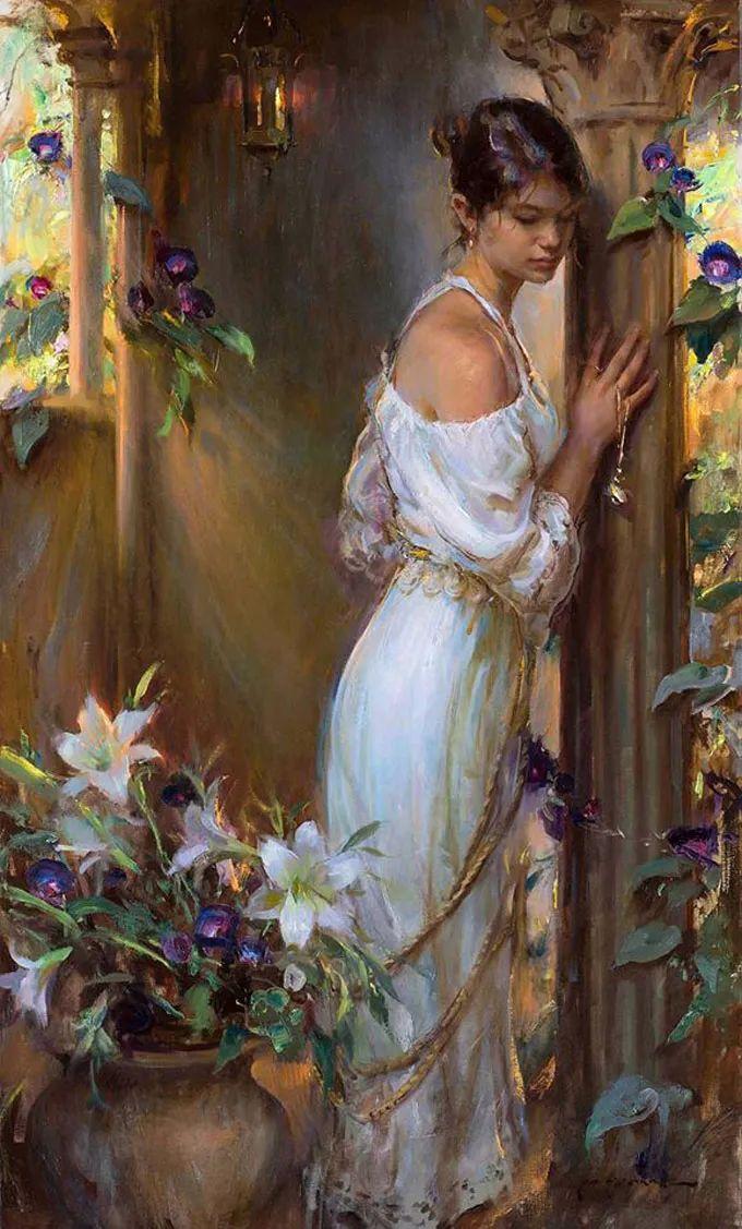 油画里,光影中的美女,一美千年插图27