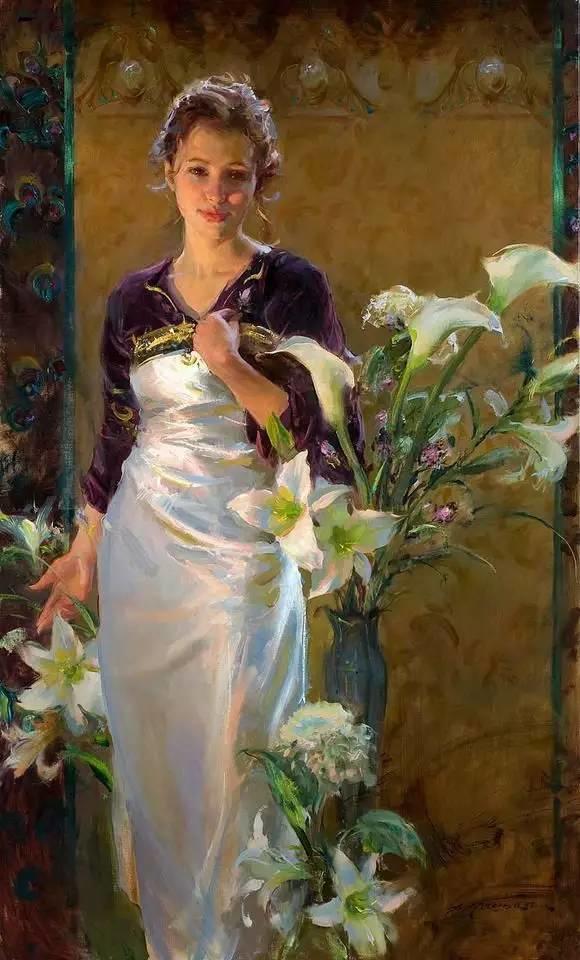 油画里,光影中的美女,一美千年插图31