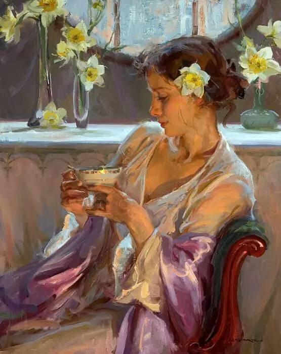 油画里,光影中的美女,一美千年插图33