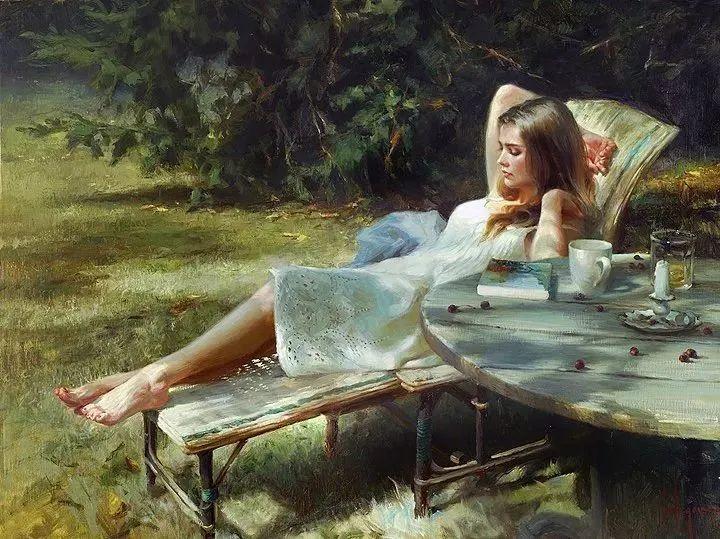 油画里,光影中的美女,一美千年插图35