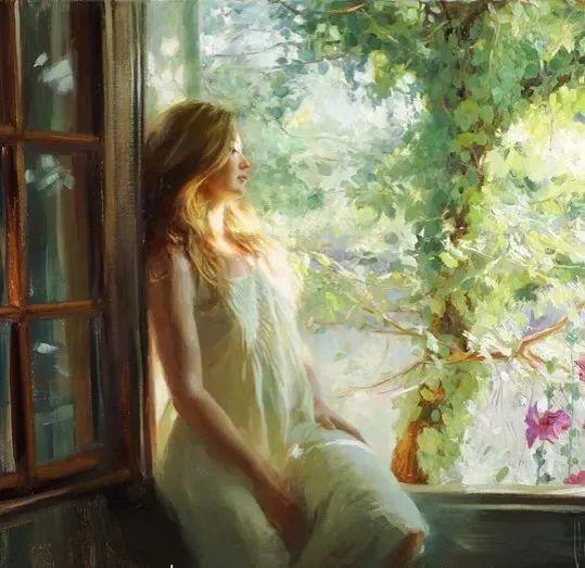 油画里,光影中的美女,一美千年插图37