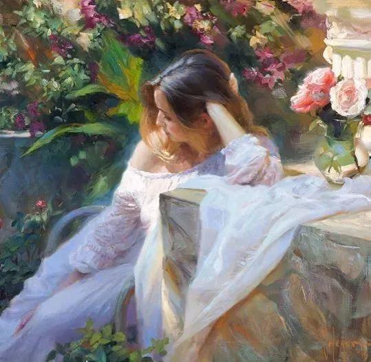 油画里,光影中的美女,一美千年插图39