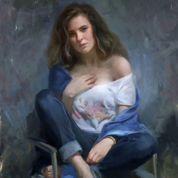 油画里,光影中的美女,一美千年插图43