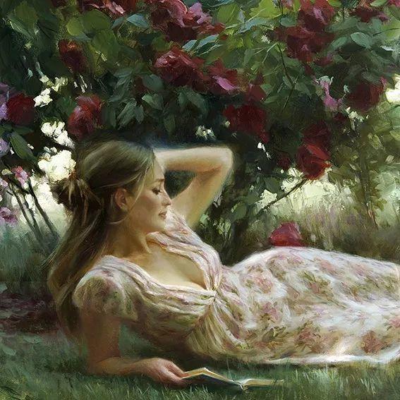 油画里,光影中的美女,一美千年插图45