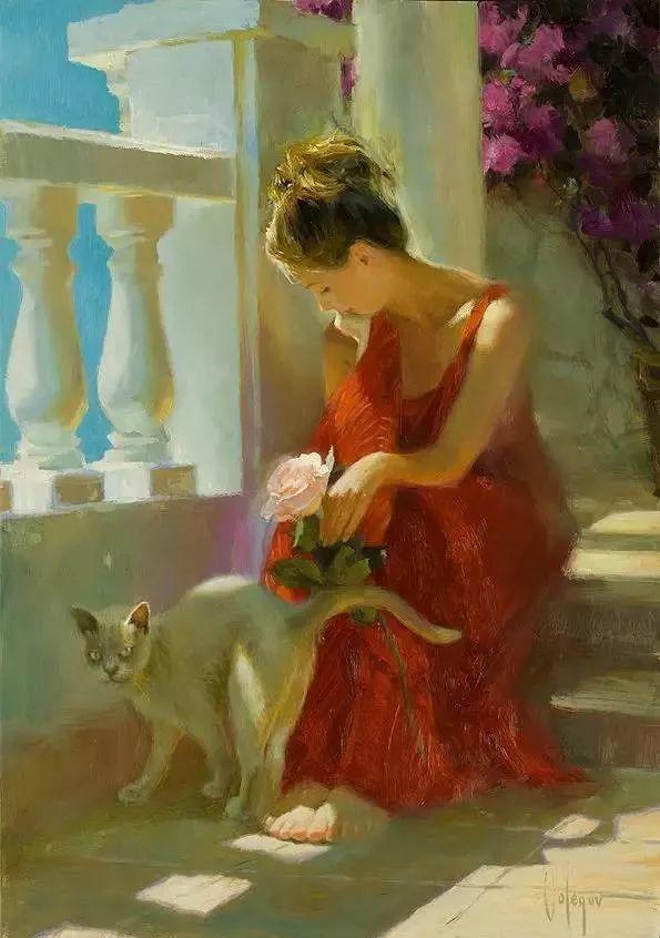 油画里,光影中的美女,一美千年插图47