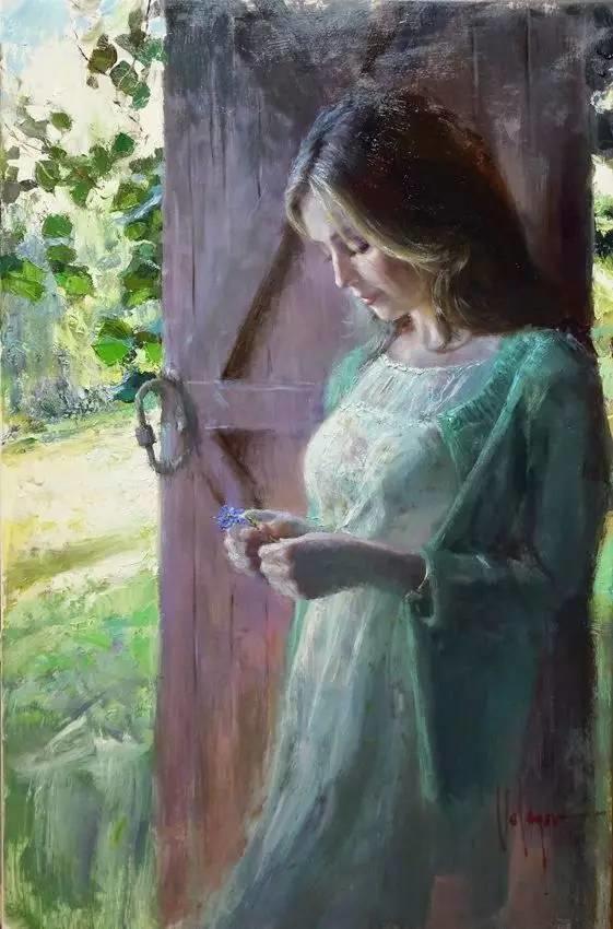 油画里,光影中的美女,一美千年插图49