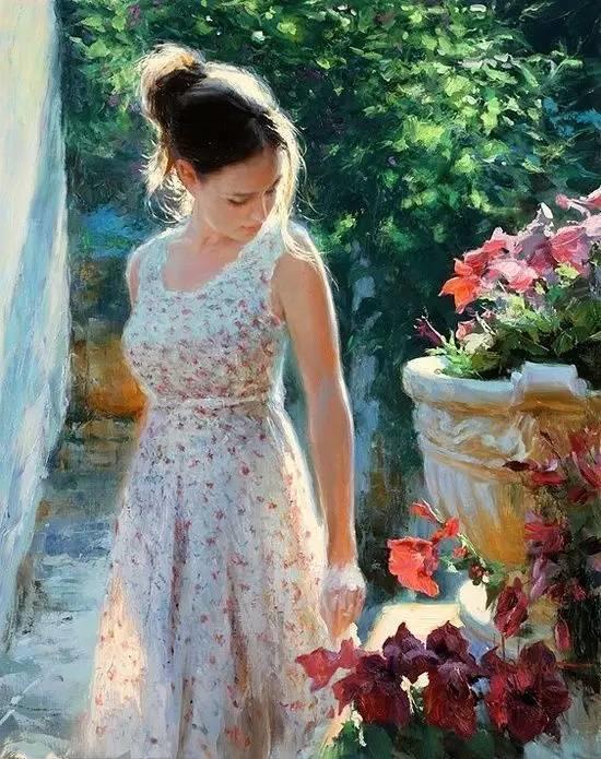 油画里,光影中的美女,一美千年插图51
