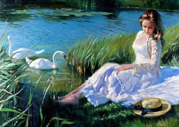 油画里,光影中的美女,一美千年插图55