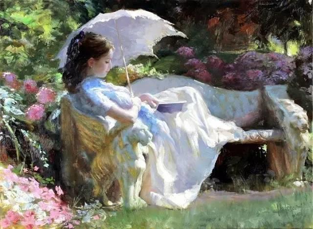 油画里,光影中的美女,一美千年插图57