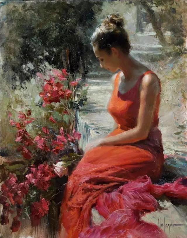 油画里,光影中的美女,一美千年插图59