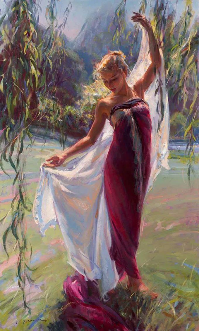 油画里,光影中的美女,一美千年插图61