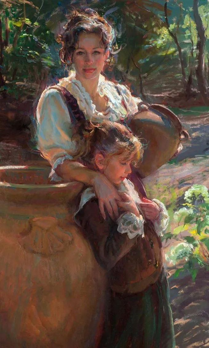 油画里,光影中的美女,一美千年插图63