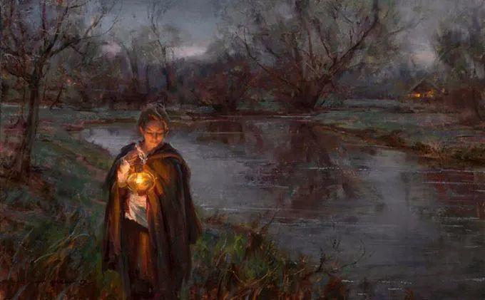 油画里,光影中的美女,一美千年插图65