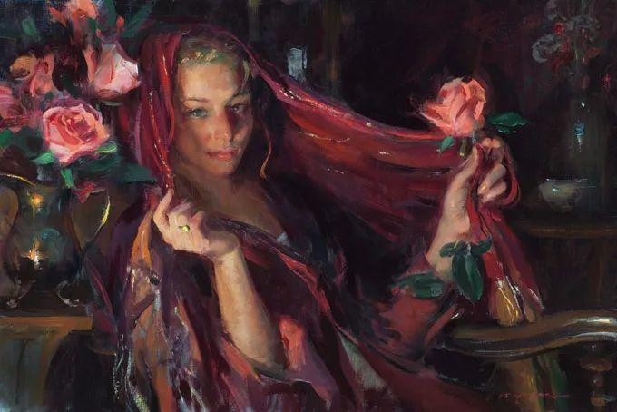 油画里,光影中的美女,一美千年插图67