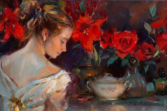 油画里,光影中的美女,一美千年插图71