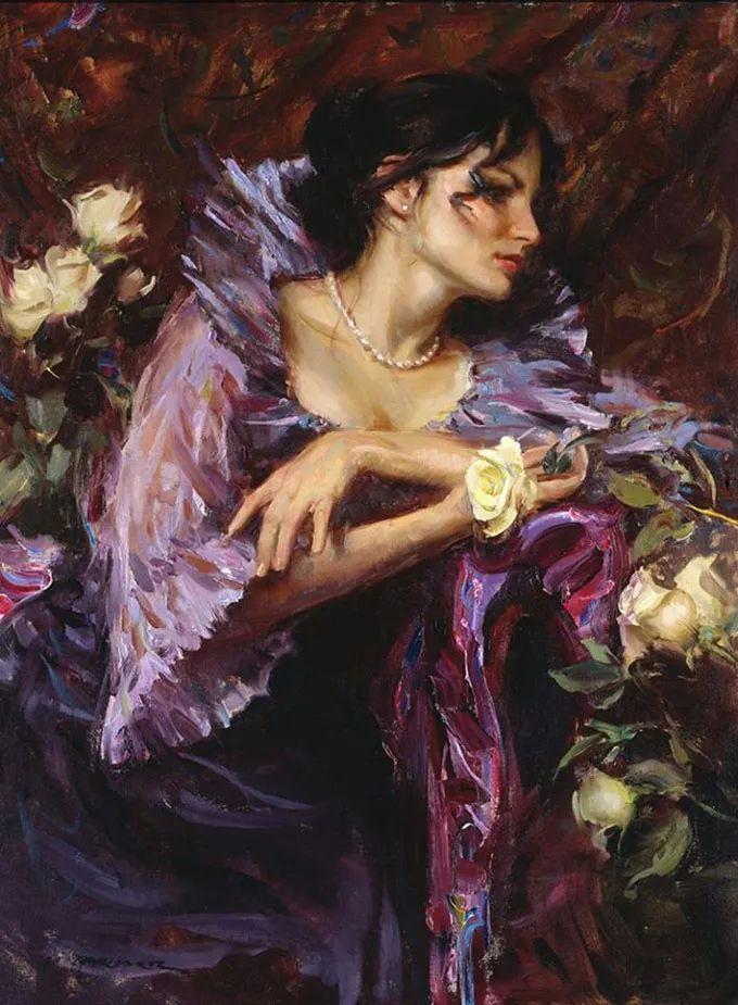油画里,光影中的美女,一美千年插图73
