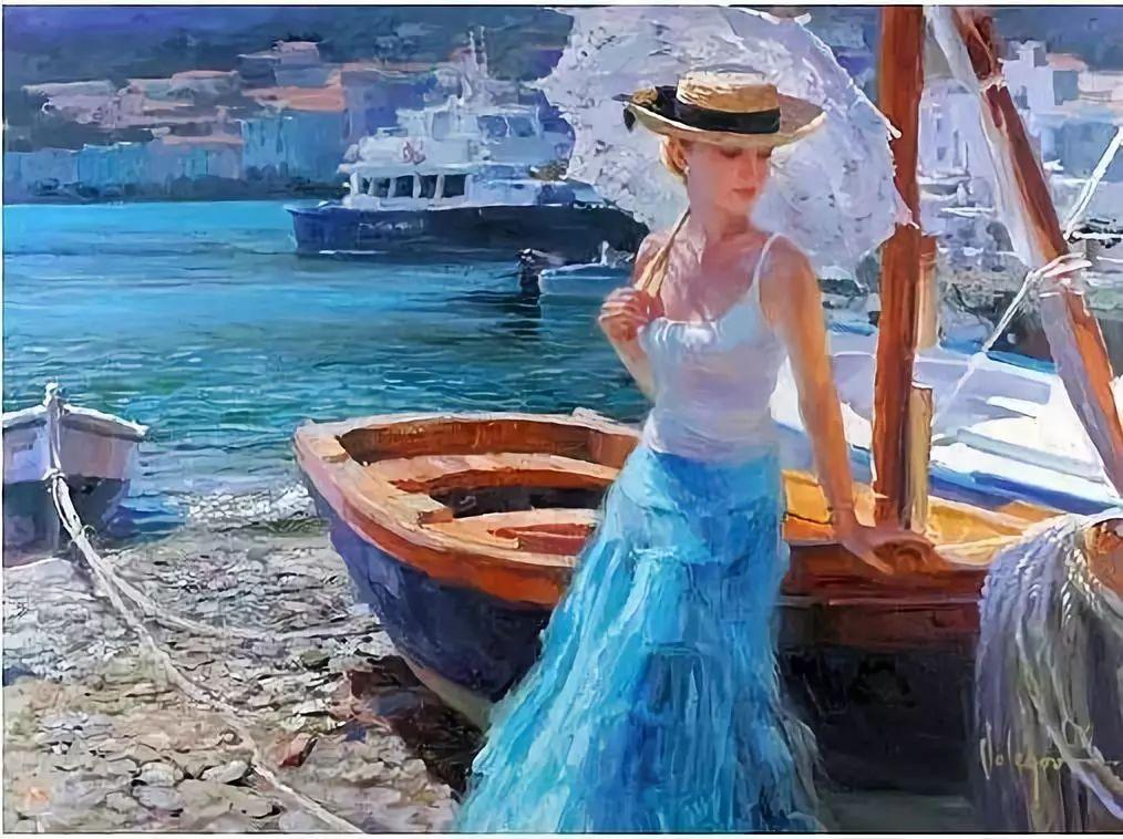 油画里,光影中的美女,一美千年插图75