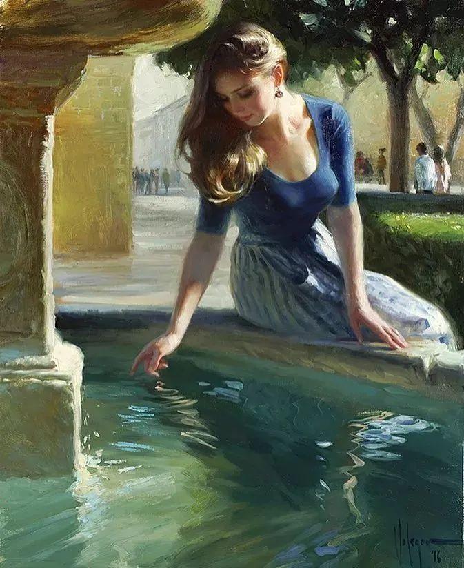 油画里,光影中的美女,一美千年插图77