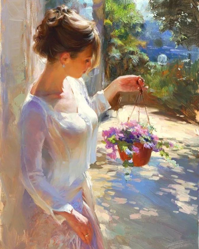 油画里,光影中的美女,一美千年插图79