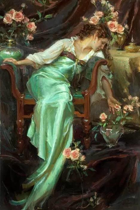油画里,光影中的美女,一美千年插图81
