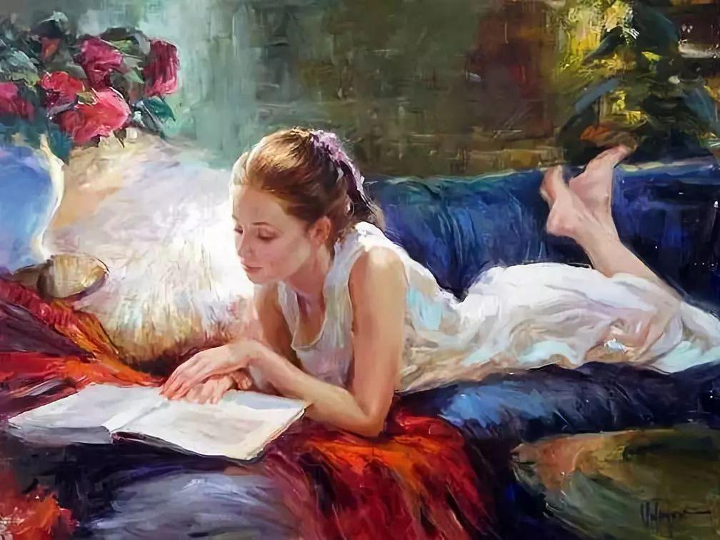 油画里,光影中的美女,一美千年插图89