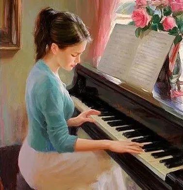 油画里,光影中的美女,一美千年插图91
