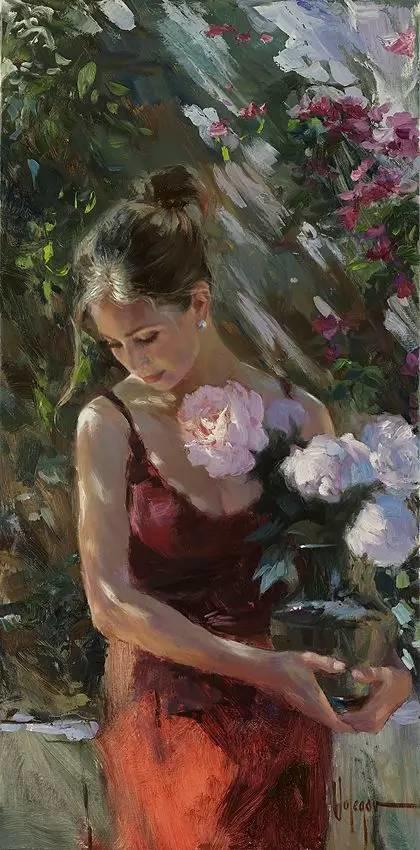油画里,光影中的美女,一美千年插图93