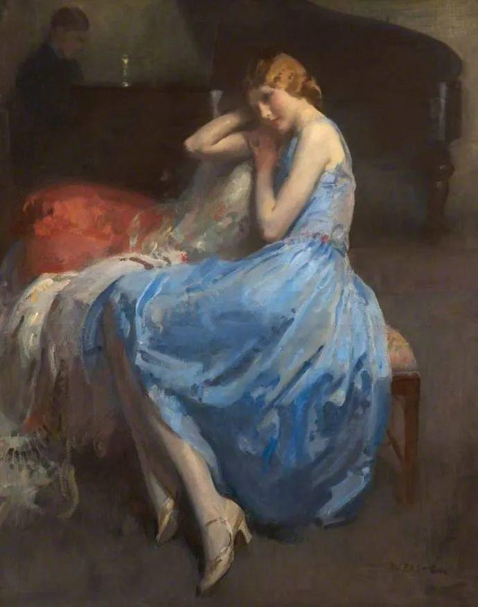 柔和流畅的绘画风格,年轻女性的肖像!插图