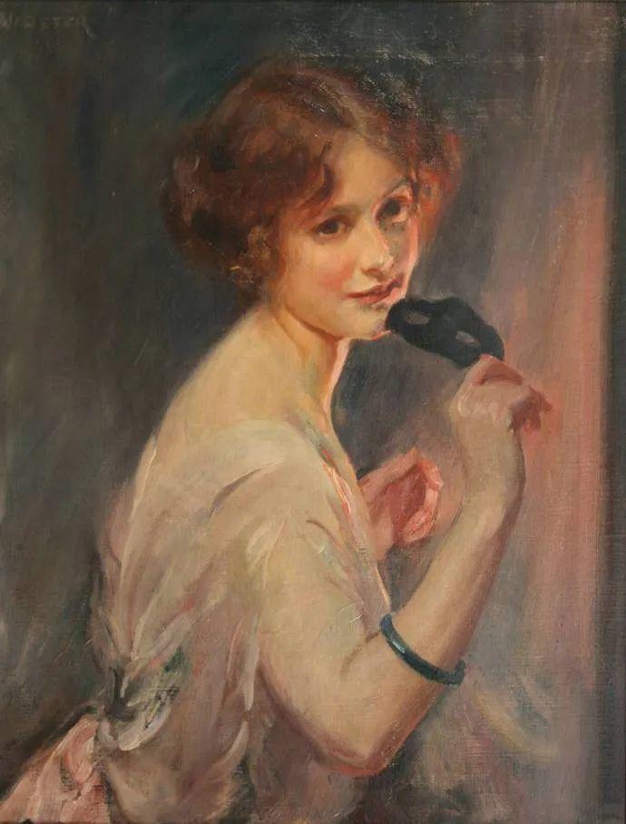柔和流畅的绘画风格,年轻女性的肖像!插图1