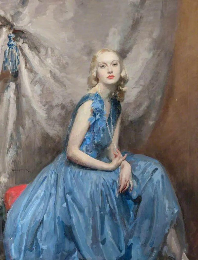柔和流畅的绘画风格,年轻女性的肖像!插图3