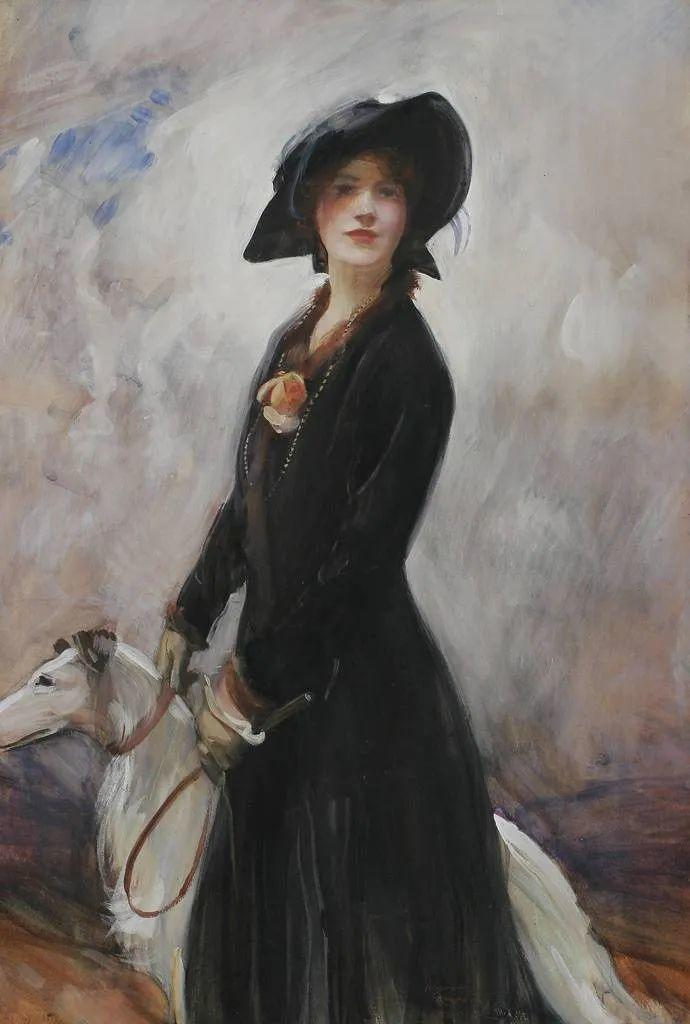 柔和流畅的绘画风格,年轻女性的肖像!插图4