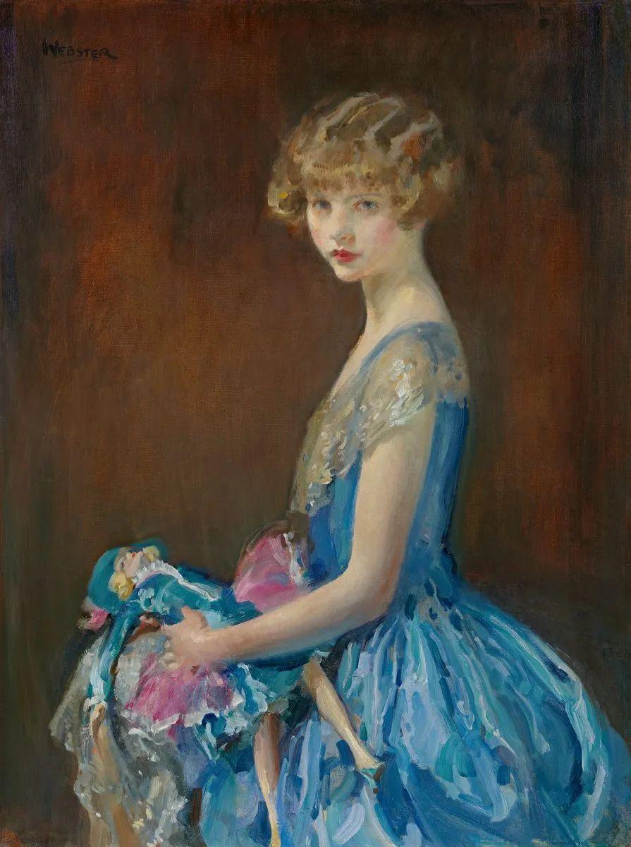 柔和流畅的绘画风格,年轻女性的肖像!插图5