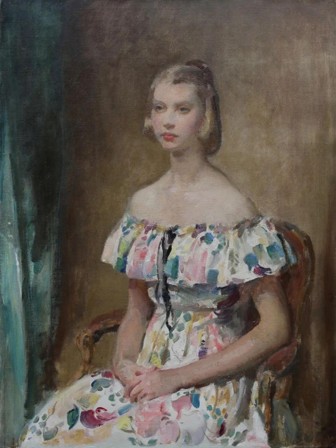 柔和流畅的绘画风格,年轻女性的肖像!插图11