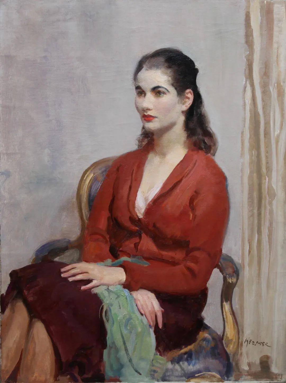 柔和流畅的绘画风格,年轻女性的肖像!插图14