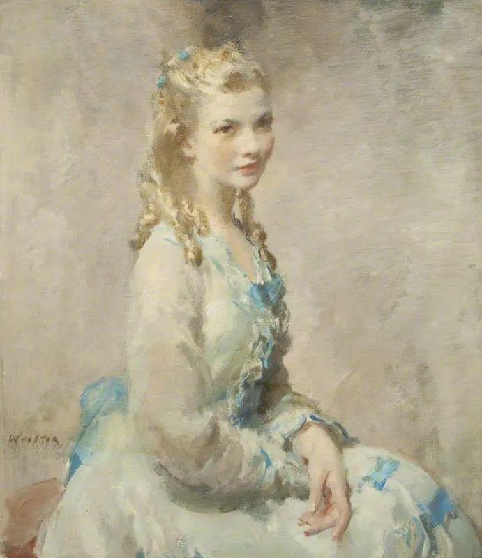 柔和流畅的绘画风格,年轻女性的肖像!插图15